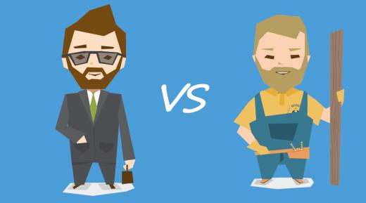 Werknemers versus freelancers